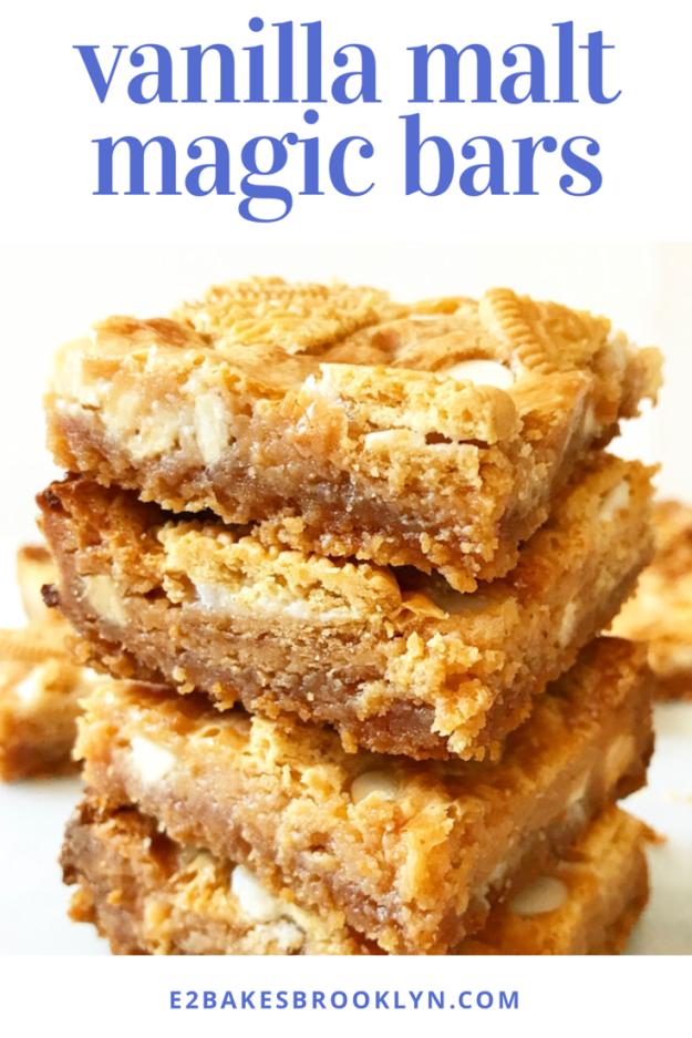 Vanilla Malt Magic Bars