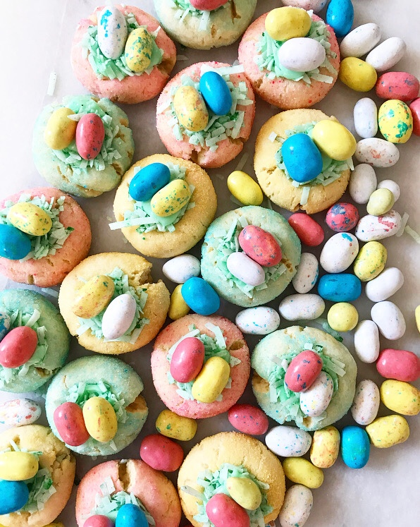 Easter Basket Thumbprints