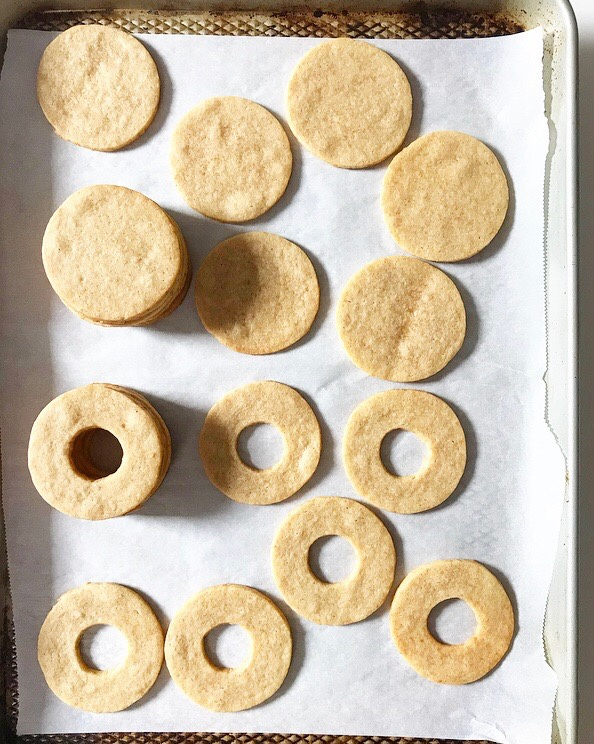 Key Lime Linzer Cookies