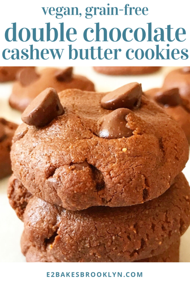 Double Chocolate Cashew Butter Cookies {Vegan, Grain-Free}