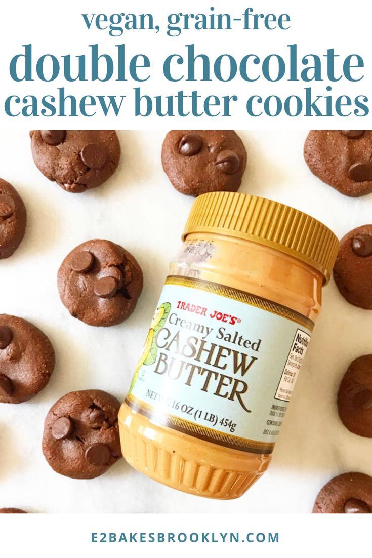 Double Chocolate Cashew Butter Cookies {Vegan, Grain-Free}