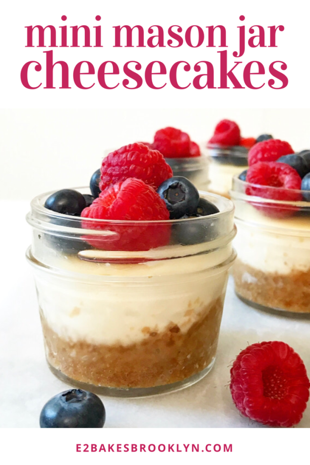 Mini Mason Jar Cheesecakes