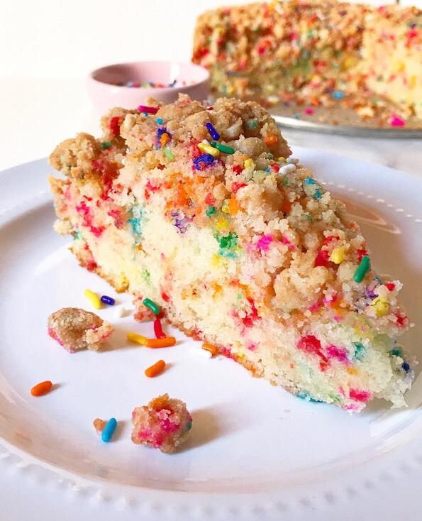 Double Funfetti Crumb Cake