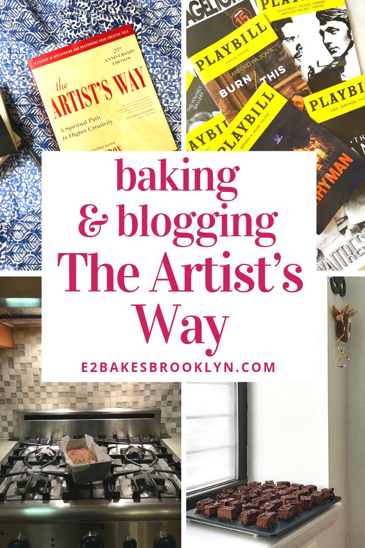 Baking & Blogging The Artist's Way