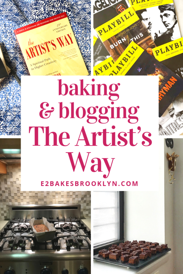 Baking & Blogging The Artist's Way