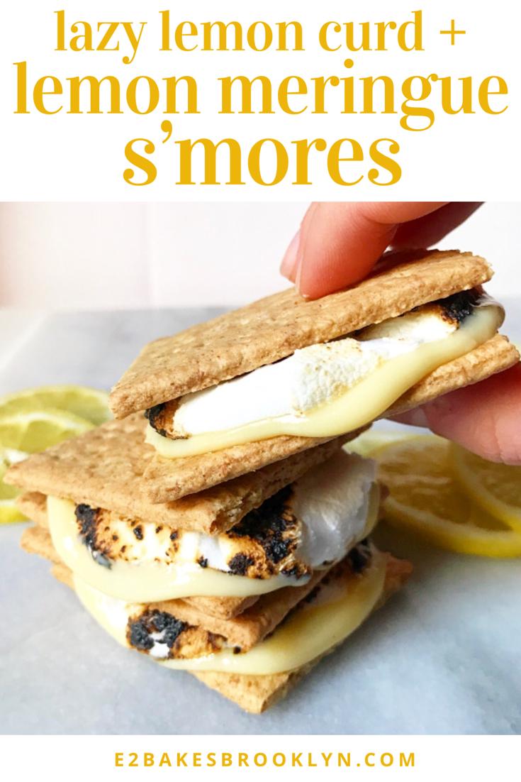 Lazy Lemon Curd + Lemon Meringue S'mores