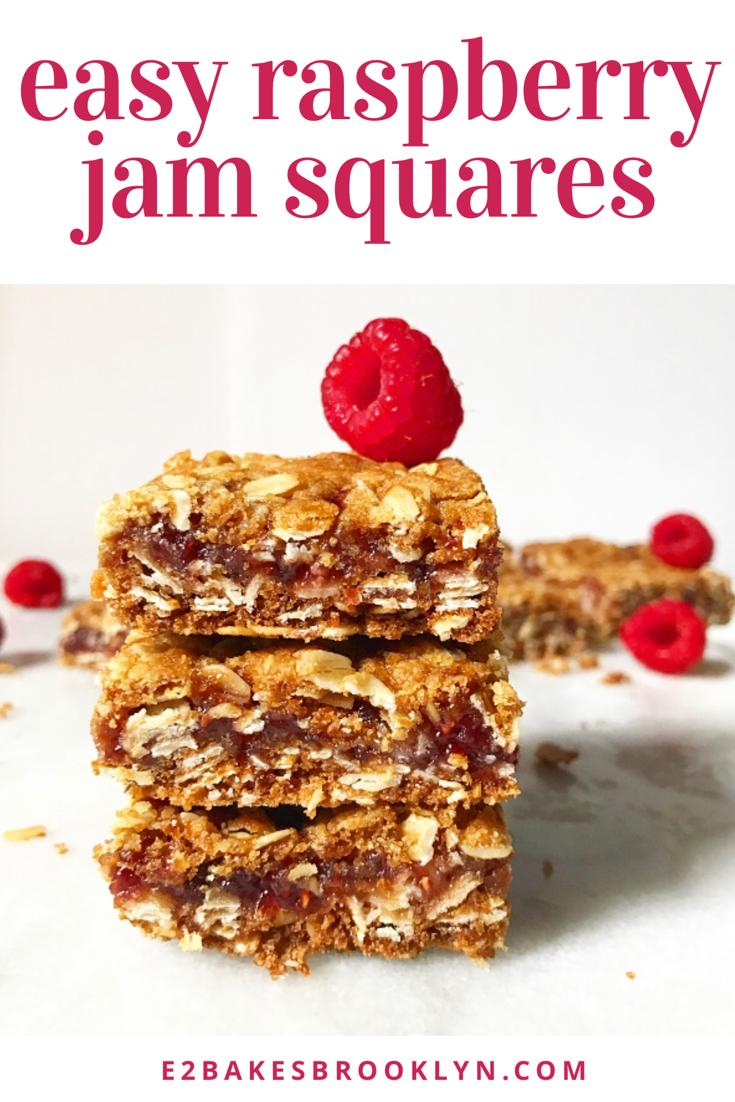 Easy Raspberry Jam Squares