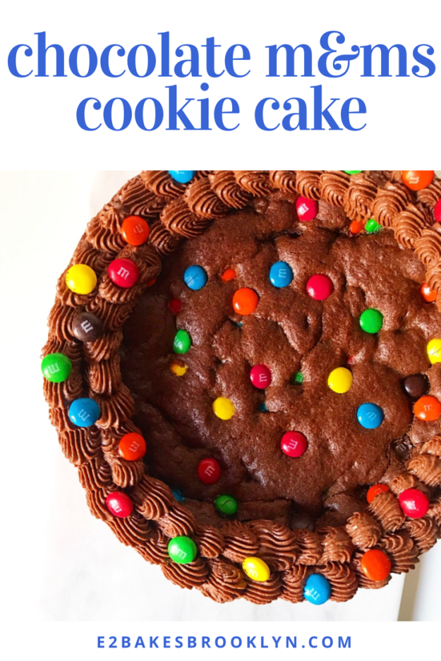 Chocolate M&Ms Cookie Cake