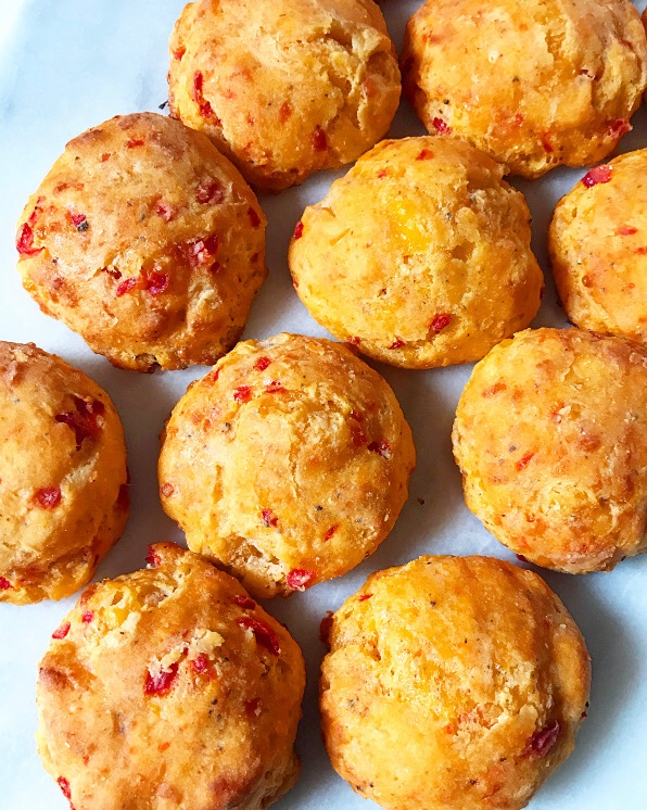 Pimento Cheese Cornmeal Biscuits