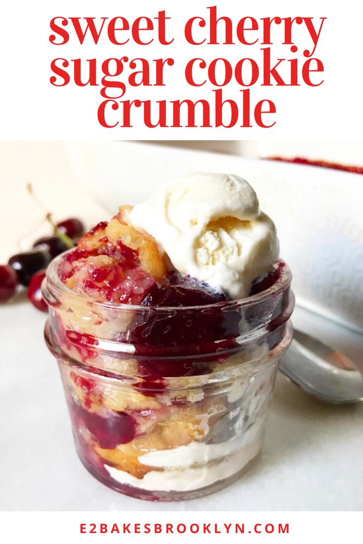 Sweet Cherry Sugar Cookie Crumble
