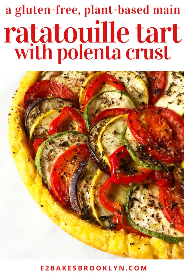 Ratatouille Tart with Polenta Crust {Gluten-Free, Plant-Based}