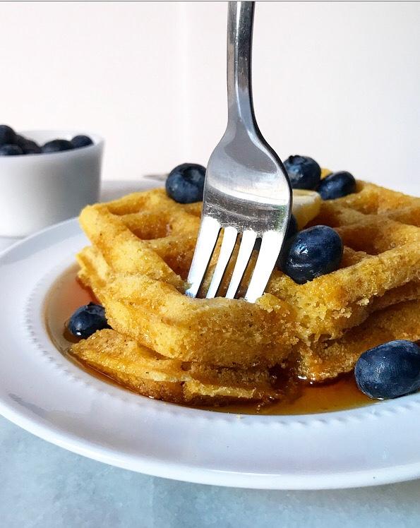 Cornmeal Waffles {Vegan & Gluten-Free}