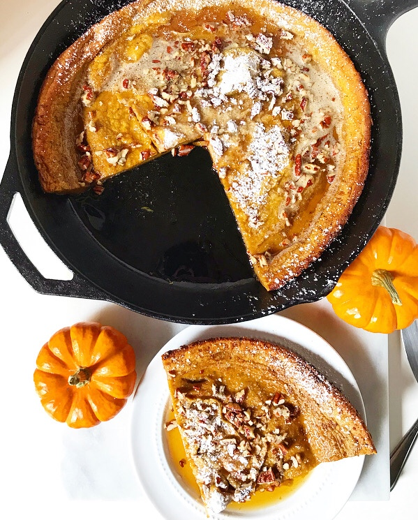 Pumpkin Puff Pancake {Dutch Baby}
