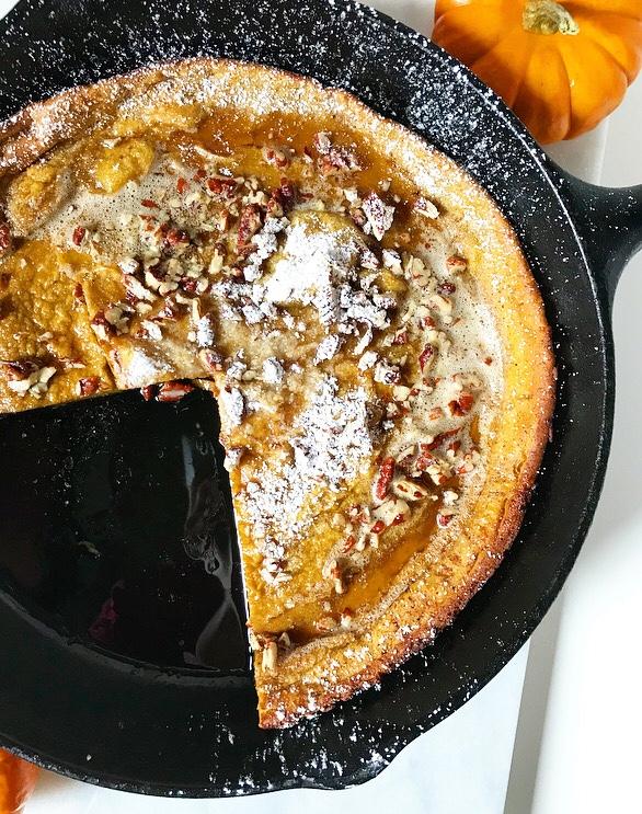 Pumpkin Puff Pancake {Dutch Baby}