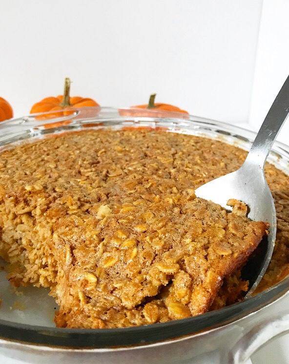 Pumpkin Baked Oatmeal {Gluten-Free}
