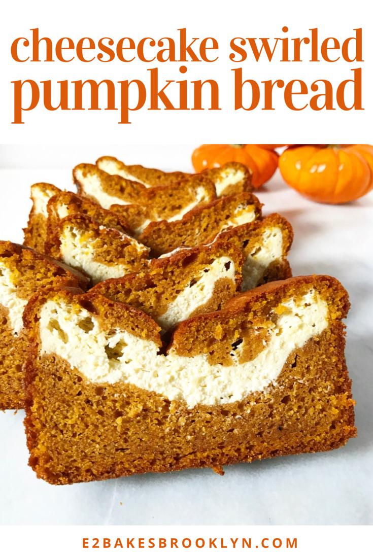 Cheesecake Swirled Pumpkin Bread