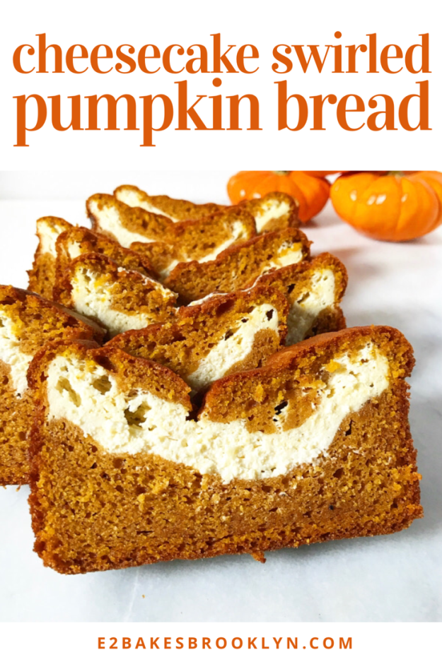 Cheesecake Swirled Pumpkin Bread
