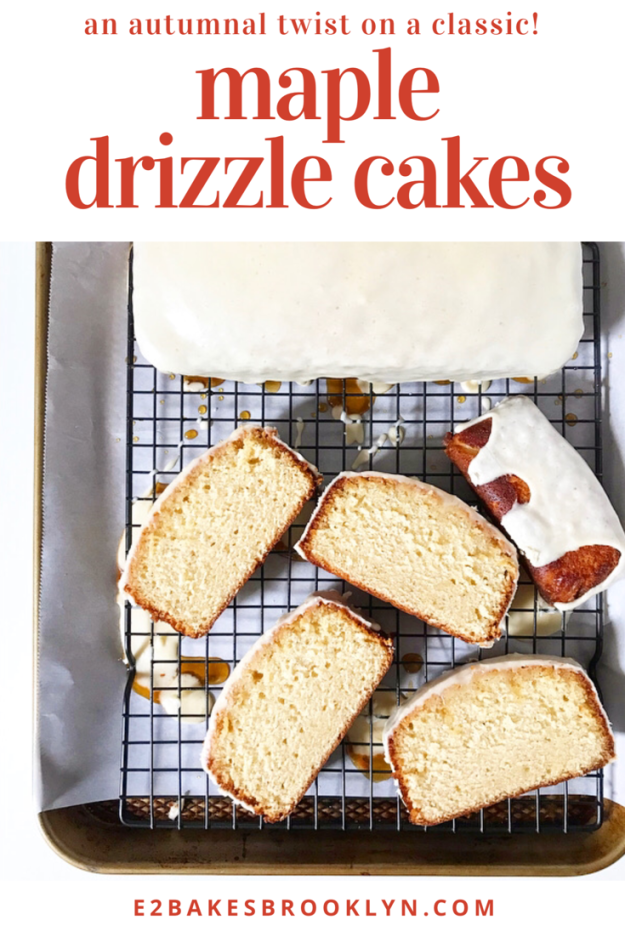 Maple Drizzle Cakes