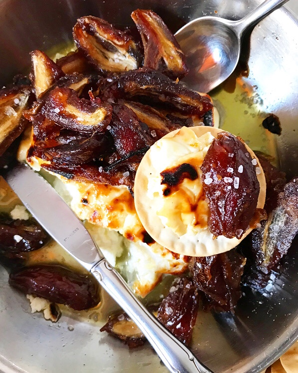 Baked Feta with Sautéed Dates