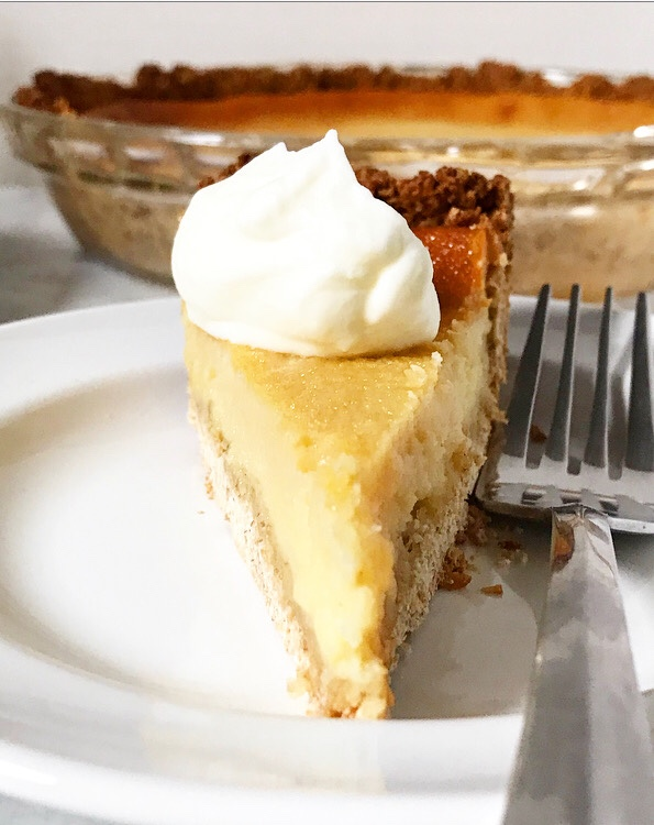 Buttermilk Pie with Oatmeal Crust {Gluten-Free}