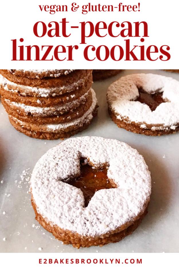 Oat-Pecan Linzer Cookies {Vegan & Gluten-Free}