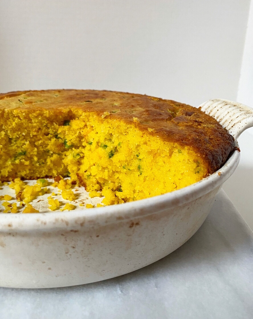 Cheesy Jalapeño Cornbread {Gluten-Free}