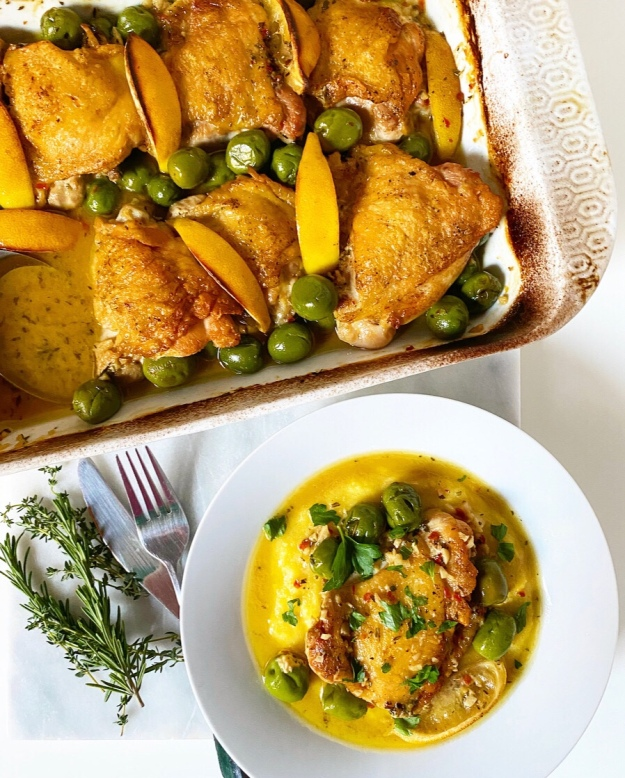 Chicken with Lemon & Olives