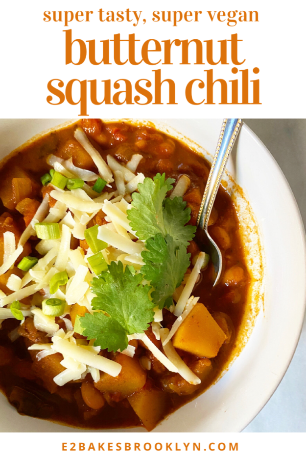 Butternut Squash Chili {Vegan}