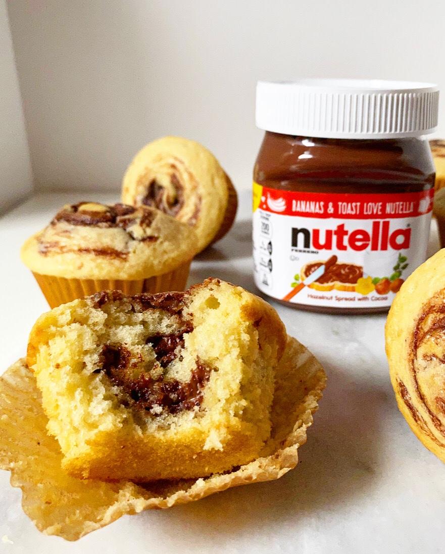Brown Butter Nutella Swirl Muffins