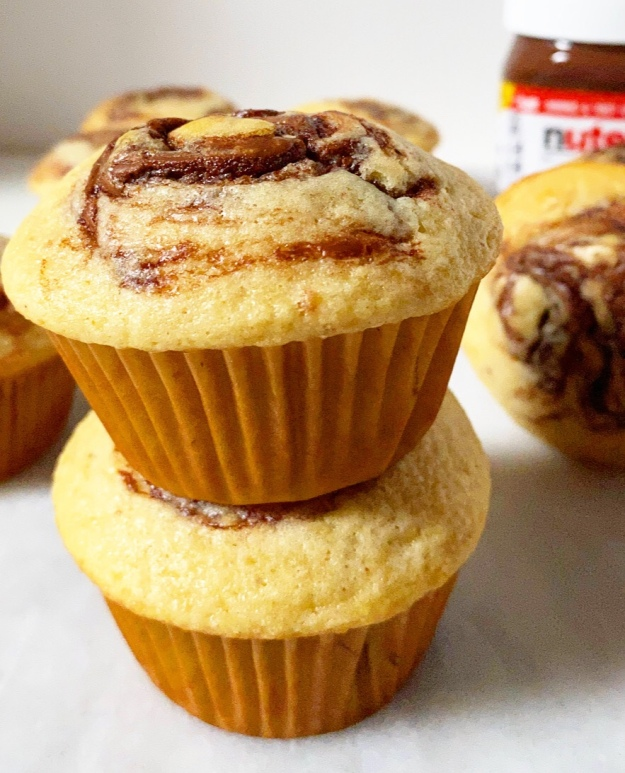 Brown Butter Nutella Swirl Muffins