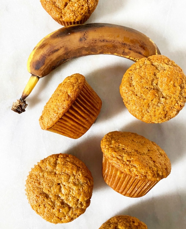 Small Batch Banana Muffins