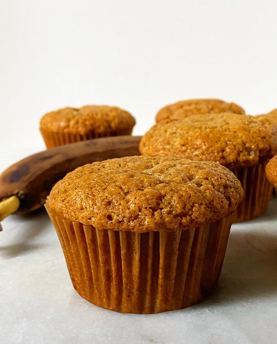 Small Batch Banana Muffins