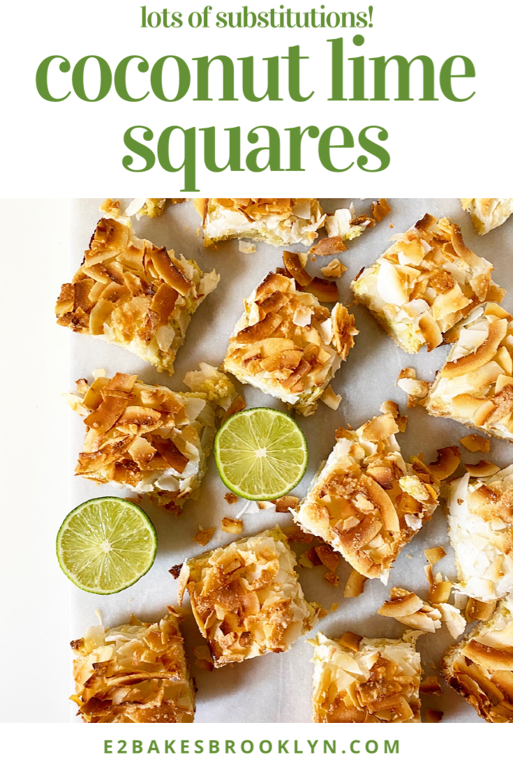 Coconut Lime Squares