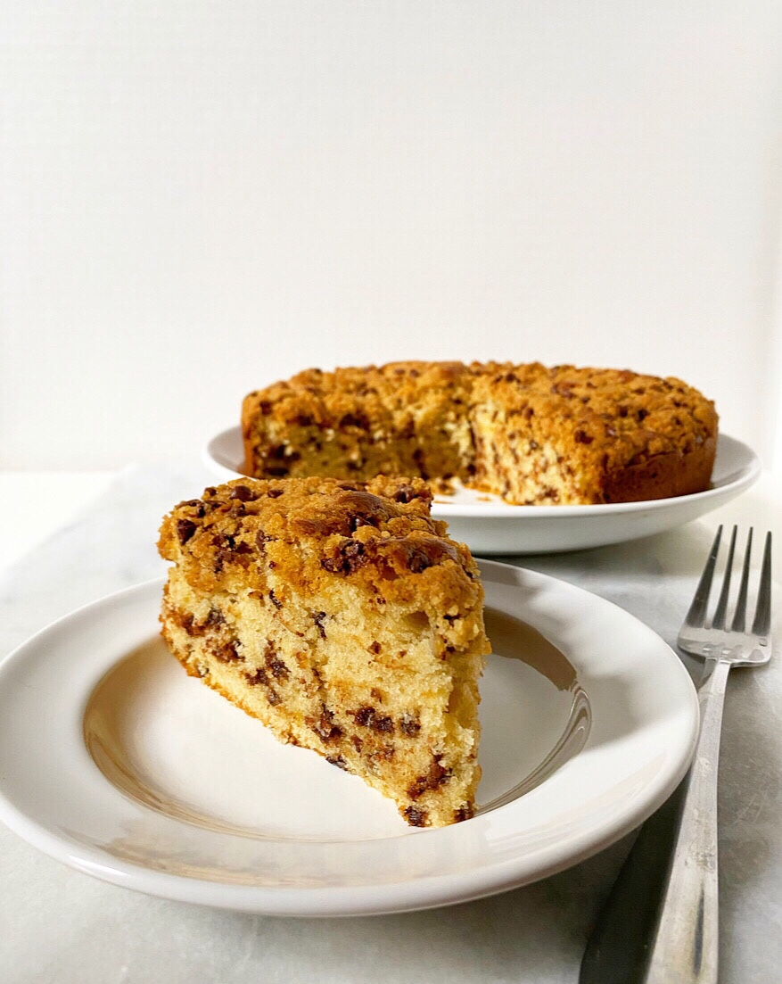 Chocolate Chip Cookie Crumb Cake
