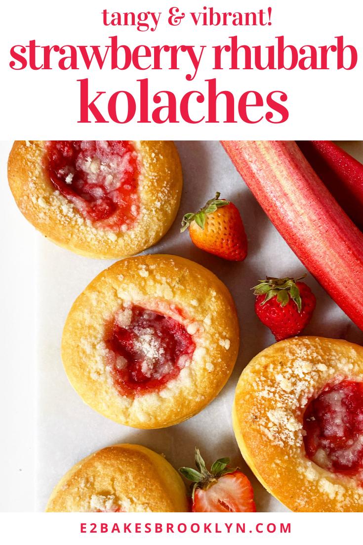 Strawberry Rhubarb Kolaches