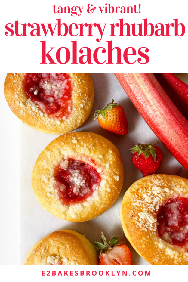 Strawberry Rhubarb Kolaches