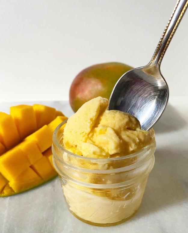 Easiest Ever Mango Sherbet