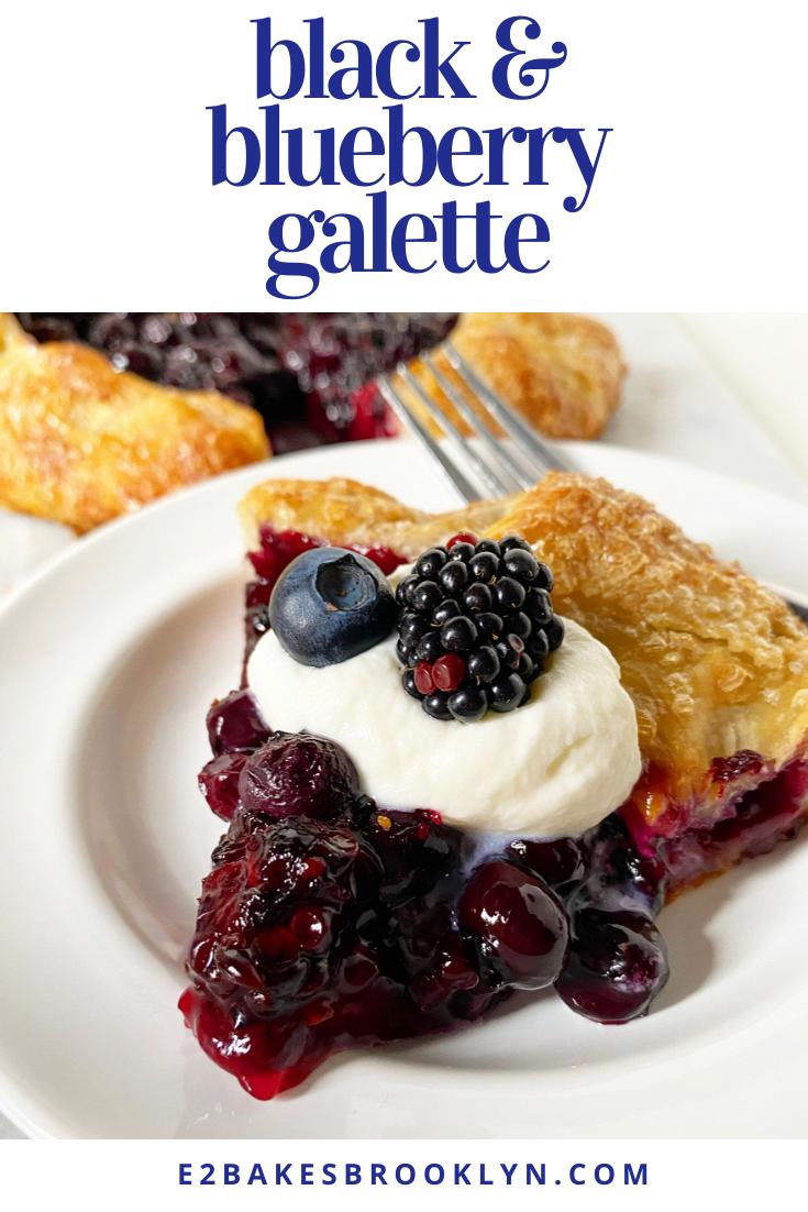 Black & Blueberry Galette