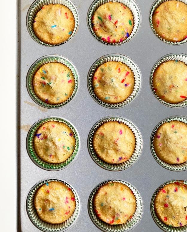 Funfetti Cookie Cupcakes