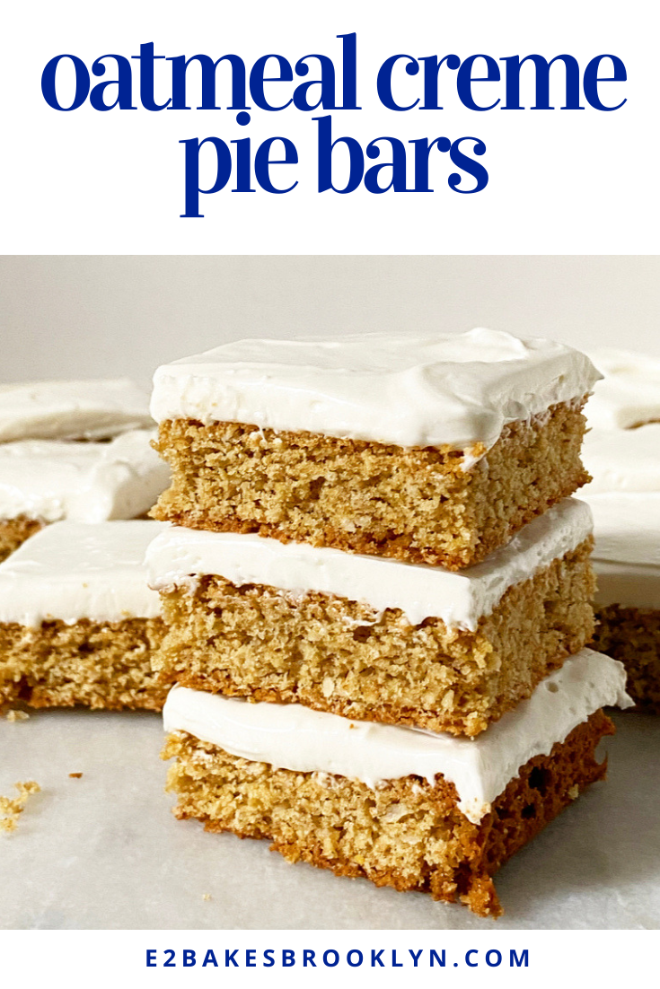 Oatmeal Creme Pie Bars