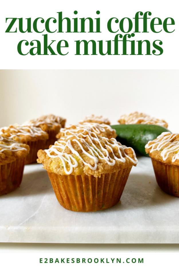 Zucchini Coffee Cake Muffins