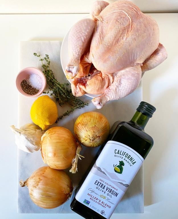 Roast Chicken with Schmaltzy Onions