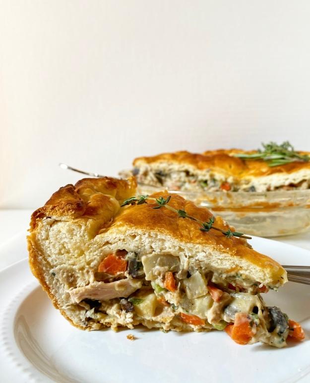 Chicken Pot Pie with Buttermilk Biscuit Crust