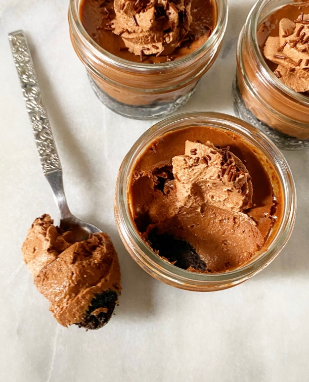 Mini Mason Jar Chocolate Cheesecakes