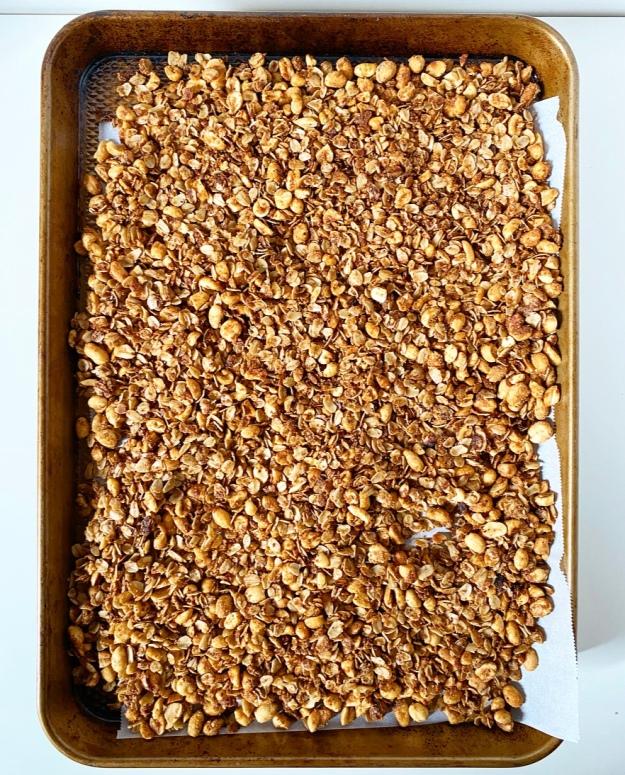 Easy Stovetop Peanut Butter Granola