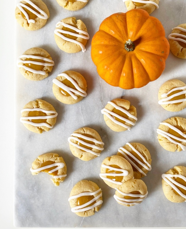 Pumpkin Pie Thumbprints