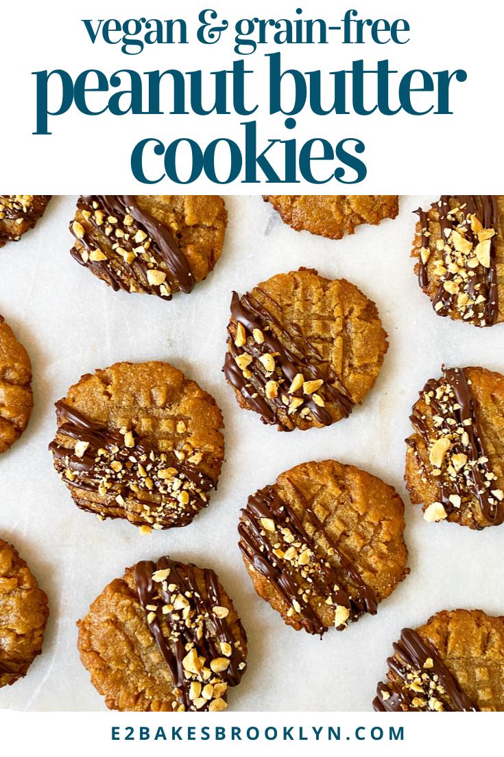 Peanut Butter Cookies {Vegan & Grain-Free}