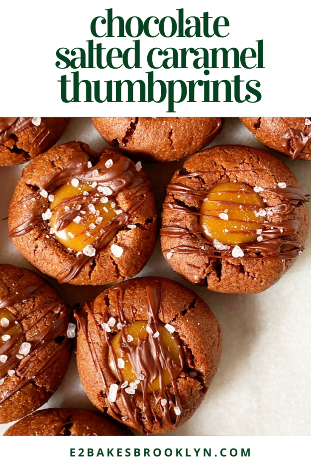 Chocolate Salted Caramel Thumbprints