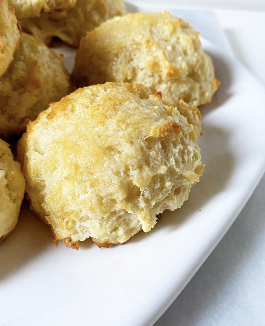 Honey Butter Drop Biscuits