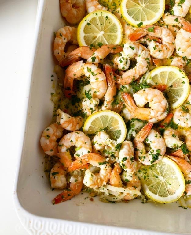 Baked Shrimp with Lemon & Garlic